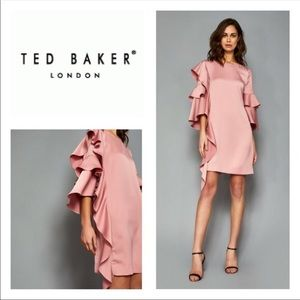 Ted Baker Eicio Pink Frill Tunic Dress